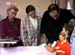 Helen Daniels, Julie Martin, Philip Martin, Debbie Martin in Neighbours Episode 2175