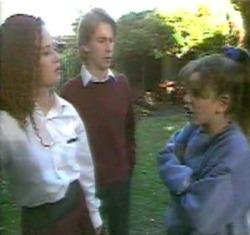 Cody Willis, Brett Stark, Hannah Martin in Neighbours Episode 2176