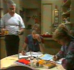 Lou Carpenter, Danni Stark, Brett Stark in Neighbours Episode 2176
