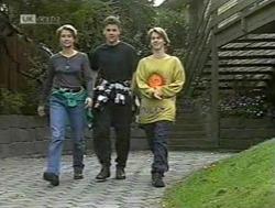 Danni Stark, Michael Martin, Brett Stark in Neighbours Episode 2186