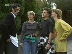 Sam Kratz, Danni Stark, Michael Martin, Brett Stark in Neighbours Episode 2186