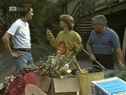 Sam Kratz, Brett Stark, Lou Carpenter in Neighbours Episode 2186