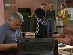 Lou Carpenter, Michael Martin, Danni Stark, Brett Stark in Neighbours Episode 2186