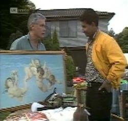 Lou Carpenter, Vikram Chatterji in Neighbours Episode 2188