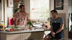 Aaron Brennan, David Tanaka in Neighbours Episode 8593