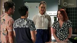 Aaron Brennan, David Tanaka, Chloe Brennan, Nicolette Stone in Neighbours Episode 8593