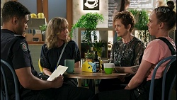Levi Canning, Jane Harris, Susan Kennedy, Bea Nilsson in Neighbours Episode 8594