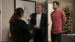 Sheila Canning 2, Paul Robinson, Ned Willis in Neighbours Episode 8595