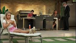 Roxy Willis, Ned Willis, Terese Willis, Paul Robinson in Neighbours Episode 8595