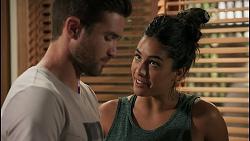 Ned Willis, Yashvi Rebecchi in Neighbours Episode 8596