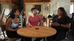 Yashvi Rebecchi, Ned Willis, Sheila Canning 2 in Neighbours Episode 8613