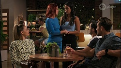 Chloe Brennan, Nicolette Stone, Yashvi Rebecchi, David Tanaka, Aaron Brennan in Neighbours Episode 8613