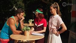Aaron Brennan, Nicolette Stone, Chloe Brennan in Neighbours Episode 8613
