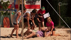 Bea Nilsson, Levi Canning, Terese Willis, Nicolette Stone, Kyle Canning, Roxy Willis in Neighbours Episode 8613