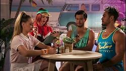 Chloe Brennan, Nicolette Stone, David Tanaka, Aaron Brennan in Neighbours Episode 8613