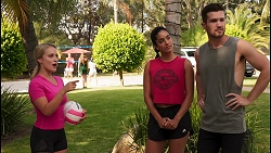 Roxy Willis, Yashvi Rebecchi, Ned Willis in Neighbours Episode 8614