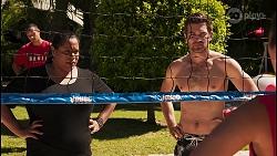 Sheila Canning 2, Ned Willis, Yashvi Rebecchi in Neighbours Episode 8614