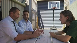 Toadie Rebecchi, Curtis Perkins, Brent Colefax in Neighbours Episode 8617