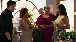Ned Willis, Nicolette Stone, Sheila Canning 2, Yashvi Rebecchi in Neighbours Episode 8618