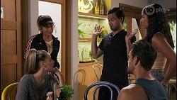 Chloe Brennan, Jane Harris, David Tanaka, Aaron Brennan, Yashvi Rebecchi in Neighbours Episode 8618