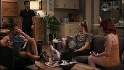 Aaron Brennan, David Tanaka, Chloe Brennan, Nicolette Stone in Neighbours Episode 8619