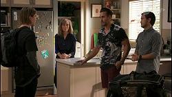 Brent Colefax, Jane Harris, Aaron Brennan, David Tanaka in Neighbours Episode 8621