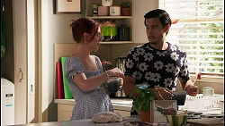 Nicolette Stone, David Tanaka in Neighbours Episode 8623