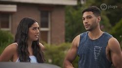 Yashvi Rebecchi, Levi Canning in Neighbours Episode 8625
