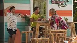 David Tanaka, Aaron Brennan, Amy Greenwood in Neighbours Episode 8625