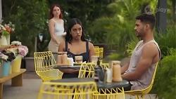 Nicolette Stone, Yashvi Rebecchi, Levi Canning in Neighbours Episode 8627
