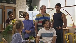 Amy Greenwood, Susan Kennedy, Karl Kennedy, David Tanaka, Levi Canning in Neighbours Episode 8631