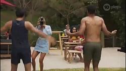 David Tanaka, Amy Greenwood, Levi Canning in Neighbours Episode 8631