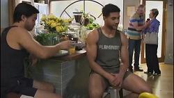 David Tanaka, Levi Canning, Karl Kennedy, Susan Kennedy in Neighbours Episode 8631