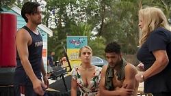 David Tanaka, Roxy Willis, Levi Canning, Sheila Canning in Neighbours Episode 8632