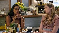 Yashvi Rebecchi, Mackenzie Hargreaves in Neighbours Episode 8633