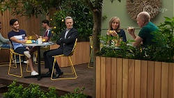 David Tanaka, Paul Robinson, Jane Harris, Clive Gibbons in Neighbours Episode 8633