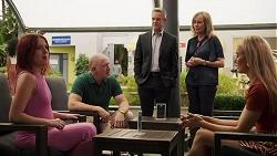 Nicolette Stone, Clive Gibbons, Paul Robinson, Jane Harris, Chloe Brennan in Neighbours Episode 8633
