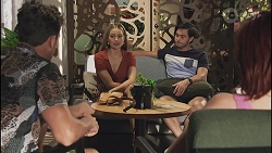 Aaron Brennan, Chloe Brennan, David Tanaka, Nicolette Stone in Neighbours Episode 8634