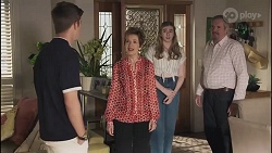 Hendrix Greyson, Susan Kennedy, Mackenzie Hargreaves, Karl Kennedy in Neighbours Episode 8634