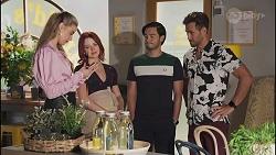 Chloe Brennan, Nicolette Stone, David Tanaka, Aaron Brennan in Neighbours Episode 8634
