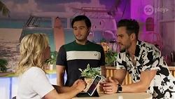 Amy Greenwood, David Tanaka, Aaron Brennan in Neighbours Episode 8635
