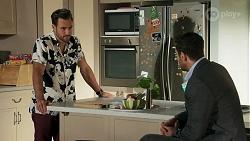 Aaron Brennan, Pierce Greyson in Neighbours Episode 8635
