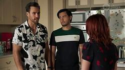 Aaron Brennan, David Tanaka, Nicolette Stone in Neighbours Episode 8635