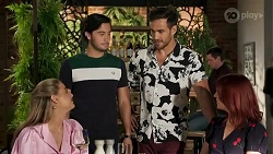 Chloe Brennan, David Tanaka, Aaron Brennan, Nicolette Stone in Neighbours Episode 8636