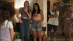 Nell Rebecchi, Mackenzie Hargreaves, Yashvi Rebecchi, Toadie Rebecchi, Melanie Pearson in Neighbours Episode 8642