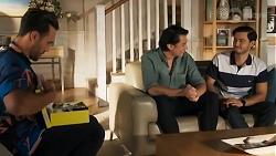 Aaron Brennan, Leo Tanaka, David Tanaka in Neighbours Episode 8643