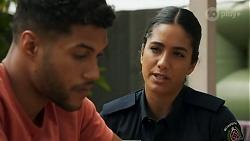 Levi Canning, Yashvi Rebecchi in Neighbours Episode 8643