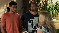 Levi Canning, Kyle Canning, Sheila Canning in Neighbours Episode 8643