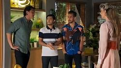 Leo Tanaka, David Tanaka, Aaron Brennan, Chloe Brennan in Neighbours Episode 8643