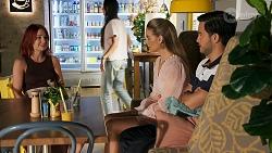Nicolette Stone, Chloe Brennan, David Tanaka in Neighbours Episode 8644